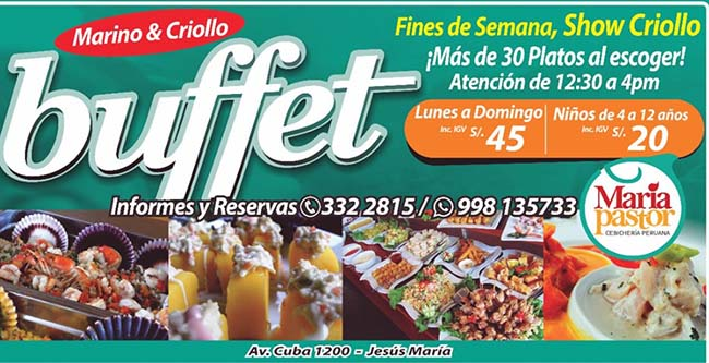 Marvelous Maria Pastor Cebicheria Y Restaurante Buffet Home Interior And Landscaping Ponolsignezvosmurscom
